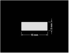PLOMBA KRUCHA BIAŁA POŁYSK STABILNY PODKŁAD D-2829 prostokąt 15x5mm
