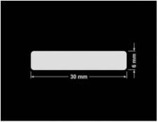 PLOMBA KRUCHA BIAŁA POŁYSK STABILNY PODKŁAD D-2829 prostokąt 30x6mm
