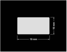 PLOMBA KRUCHA BIAŁA POŁYSK STABILNY PODKŁAD D-2829 prostokąt 19x10mm