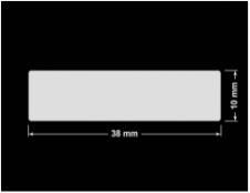 PLOMBA KRUCHA BIAŁA POŁYSK STABILNY PODKŁAD D-2829 prostokąt 38x10mm