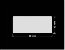 PLOMBA KRUCHA BIAŁA POŁYSK STABILNY PODKŁAD D-2829 prostokąt 30x13mm