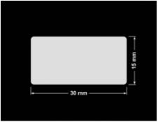 PLOMBA KRUCHA BIAŁA POŁYSK STABILNY PODKŁAD D-2829 prostokąt 30x15mm