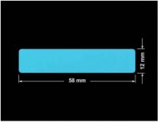 PLOMBA NIEBIESKA MAT VOIDOPEN A-347V3 prostokąt 58x12mm
