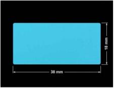 PLOMBA NIEBIESKA MAT VOIDOPEN A-347V3 prostokąt 38x18mm