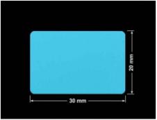 PLOMBA NIEBIESKA MAT VOIDOPEN A-347V3 prostokąt 30x20mm