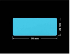 PLOMBA NIEBIESKA MAT VOIDOPEN A-347V3 prostokąt 50x20mm