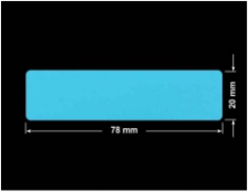 PLOMBA NIEBIESKA MAT VOIDOPEN A-347V3 prostokąt 78x20mm