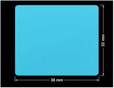 PLOMBA NIEBIESKA MAT VOIDOPEN A-347V3 prostokąt 38x32mm
