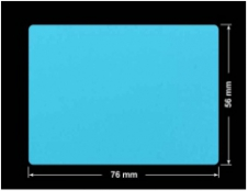 PLOMBA NIEBIESKA MAT VOIDOPEN A-347V3 prostokąt 76x56mm