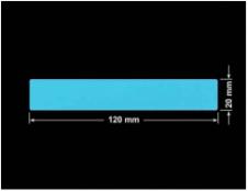 PLOMBA NIEBIESKA MAT VOIDOPEN A-347V3 prostokąt 120x20mm