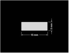 PLOMBA SREBRNA PÓŁPOŁYSK PLASTER MIODU T-441M2 prostokąt 15x5mm