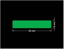PLOMBA ZIELONA PMS354 MAT VOIDOPEN A-34ZV3 prostokąt 30x6mm