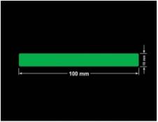 PLOMBA ZIELONA PMS354 MAT VOIDOPEN A-34ZV3 prostokąt 100x10mm