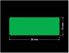 PLOMBA ZIELONA PMS354 MAT VOIDOPEN A-34ZV3 prostokąt 36x13mm