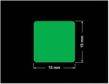 PLOMBA ZIELONA PMS354 MAT VOIDOPEN A-34ZV3 kwadrat 15x15mm
