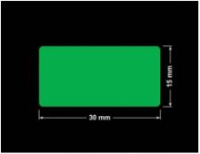 PLOMBA ZIELONA PMS354 MAT VOIDOPEN A-34ZV3 prostokąt 30x15mm