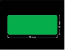PLOMBA ZIELONA PMS354 MAT VOIDOPEN A-34ZV3 prostokąt 38x15mm