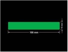 PLOMBA ZIELONA PMS354 MAT VOIDOPEN A-34ZV3 prostokąt 100x15mm