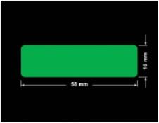 PLOMBA ZIELONA PMS354 MAT VOIDOPEN A-34ZV3 prostokąt 58x16mm