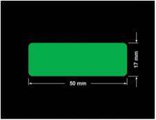 PLOMBA ZIELONA PMS354 MAT VOIDOPEN A-34ZV3 prostokąt 50x17mm