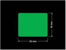 PLOMBA ZIELONA PMS354 MAT VOIDOPEN A-34ZV3 prostokąt 22x18mm