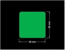 PLOMBA ZIELONA PMS354 MAT VOIDOPEN A-34ZV3 kwadrat 20x20mm