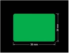 PLOMBA ZIELONA PMS354 MAT VOIDOPEN A-34ZV3 prostokąt 30x20mm