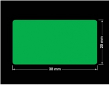 PLOMBA ZIELONA PMS354 MAT VOIDOPEN A-34ZV3 prostokąt 38x20mm