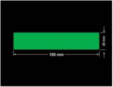 PLOMBA ZIELONA PMS354 MAT VOIDOPEN A-34ZV3 prostokąt 100x20mm
