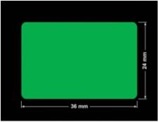 PLOMBA ZIELONA PMS354 MAT VOIDOPEN A-34ZV3 prostokąt 36x24mm