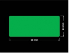 PLOMBA ZIELONA PMS354 MAT VOIDOPEN A-34ZV3 prostokąt 58x24mm