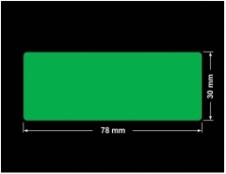PLOMBA ZIELONA PMS354 MAT VOIDOPEN A-34ZV3 prostokąt 78x30mm