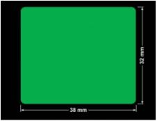PLOMBA ZIELONA PMS354 MAT VOIDOPEN A-34ZV3 prostokąt 38x32mm