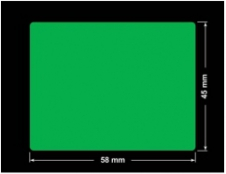 PLOMBA ZIELONA PMS354 MAT VOIDOPEN A-34ZV3 prostokąt 58x45mm