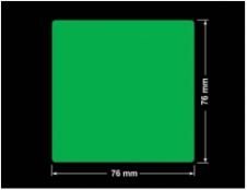 PLOMBA ZIELONA PMS354 MAT VOIDOPEN A-34ZV3 kwadrat 76x76mm