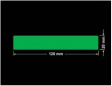 PLOMBA ZIELONA PMS354 MAT VOIDOPEN A-34ZV3 prostokąt 120x20mm
