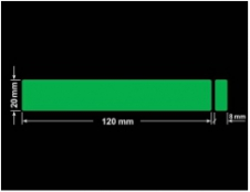 PLOMBA ZIELONA PMS354 MAT VOIDOPEN A-34ZV3 prostokąt x2 120x20mm-20x8