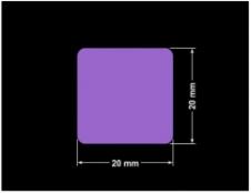 PLOMBA FIOLETOWA MAT STOP A-539S kwadrat 20x20mm