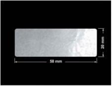 PLOMBA ELASTYCZNA CIEMNO-SREBRNA PÓŁPOŁYSK E-C31 prostokąt 58x20mm