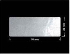 PLOMBA ELASTYCZNA CIEMNO-SREBRNA PÓŁPOŁYSK E-C31 prostokąt 58x22mm