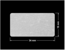 PLOMBA VOID BIAŁA POŁYSK VOID D-36203 prostokąt 34x18mm