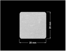 PLOMBA VOID BIAŁA POŁYSK VOID D-36203 kwadrat 20x20mm