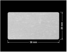 PLOMBA VOID BIAŁA POŁYSK VOID D-36203 prostokąt 38x20mm