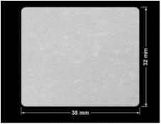 PLOMBA VOID BIAŁA POŁYSK VOID D-36203 prostokąt 38x32mm