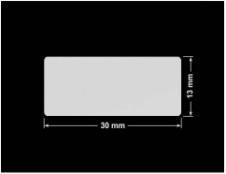 PLOMBA SREBRNA PÓŁPOŁYSK PLASTER MIODU T-441M2 prostokąt 30x13mm