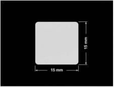 PLOMBA SREBRNA PÓŁPOŁYSK PLASTER MIODU T-441M2 kwadrat 15x15mm