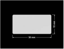 PLOMBA SREBRNA PÓŁPOŁYSK PLASTER MIODU T-441M2 prostokąt 30x15mm