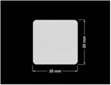 PLOMBA SREBRNA PÓŁPOŁYSK PLASTER MIODU T-441M2 kwadrat 20x20mm