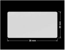 PLOMBA SREBRNA PÓŁPOŁYSK PLASTER MIODU T-441M2 prostokąt 38x20mm