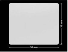 PLOMBA SREBRNA PÓŁPOŁYSK PLASTER MIODU T-441M2 prostokąt 38x32mm
